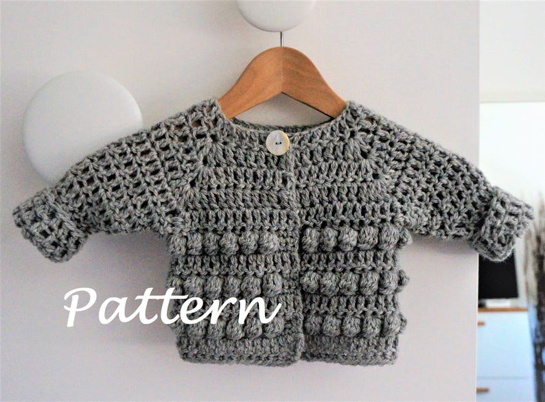 fbadf4f29 CROCHET PATTERN Cardigan Baby Infant Toddler crochet top
