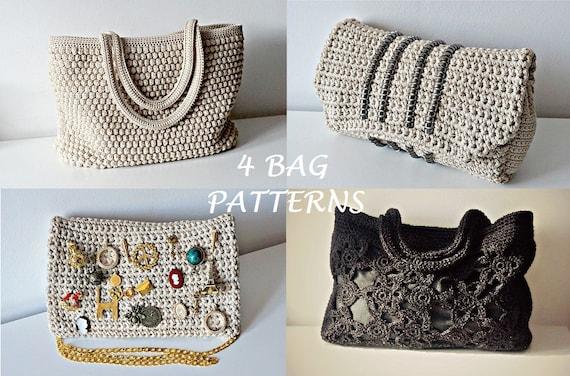 Crochet Pattern Crochet Bag Pattern Tote Pattern Crochet Purse Etsy