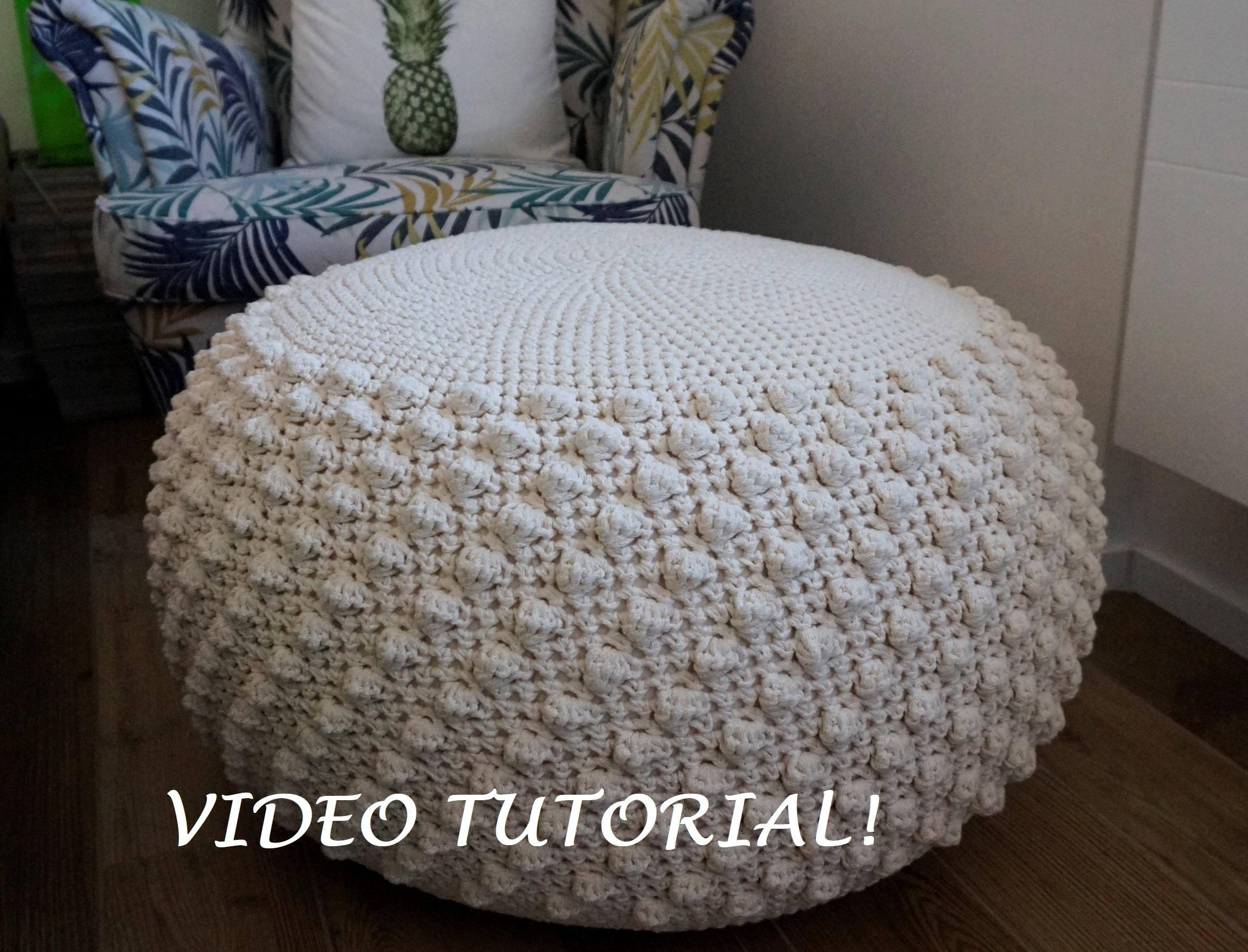 Crochet Pattern Diy Tutorial Xl Large Crochet Pouf Poof Etsy