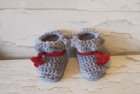 Light Blue Cute Baby Booties Crochet Pattern Baby Boots Etsy