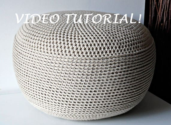 Outstanding Crochet Pattern Diy Tutorial Crochet Pouf Poof Ottoman Footstool Home Decor Pillow Bean Bag Floor Cushion Easy Crochet Pattern Squirreltailoven Fun Painted Chair Ideas Images Squirreltailovenorg