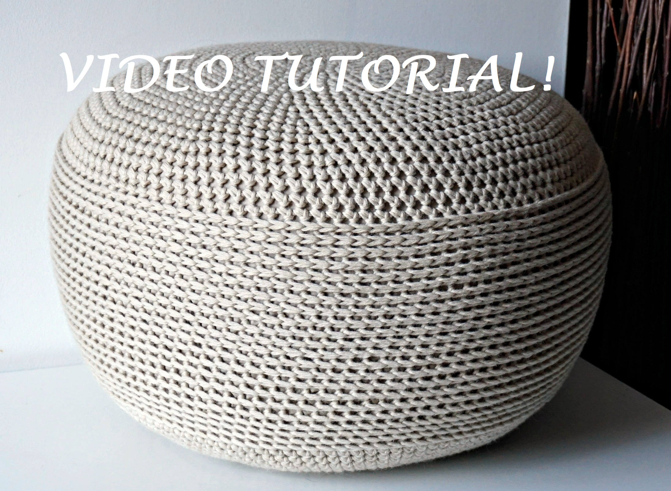 CROCHET PATTERN Diy Tutorial Crochet Pouf Poof Ottoman | Etsy