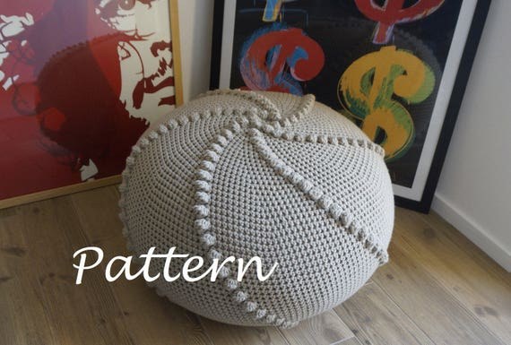 Outstanding Crochet Pattern Diy Tutorial Large Crochet Pouf Poof Ottoman Footstool Home Decor Pillow Bean Bag Floor Cushion Crochet Pattern Onthecornerstone Fun Painted Chair Ideas Images Onthecornerstoneorg