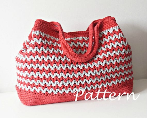 Crochet Pattern Crochet Bag Pattern Tote Pattern Crochet Purse Etsy