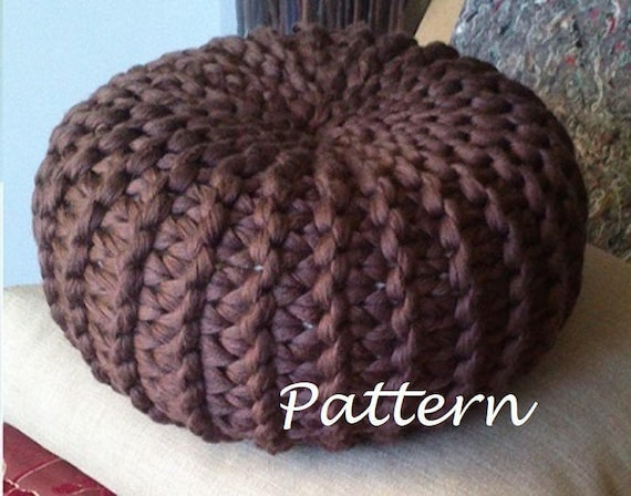 KNITTING PATTERN Knitted Pouf Pattern Poof Knitting Ottoman Etsy Classy Knitting A Pouf