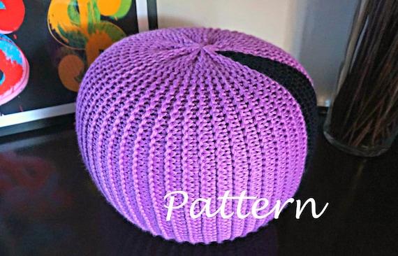 Surprising Knitting Pattern Diy Tutorial Xxl Pouf Poof Ottoman Footstool Home Decor Pillow Bean Bag Floor Cushion Knitting Pattern Lamtechconsult Wood Chair Design Ideas Lamtechconsultcom