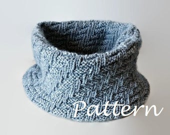 KNITTING PATTERN Infinity Scarf Pattern Eternity Scarf Knitting Pattern Knitting Scarves Pattern Cowl Pattern Knitting Pattern Chunky scarf