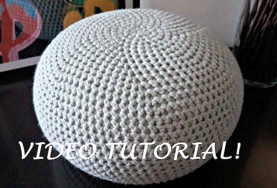Excellent Crochet Pattern Diy Tutorial Crochet Pouf Poof Ottoman Footstool Home Decor Pillow Bean Bag Floor Cushion Easy Crochet Pattern Squirreltailoven Fun Painted Chair Ideas Images Squirreltailovenorg