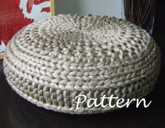 Knitting Pattern Knitted Extra Large Pouf Pattern Poof Etsy