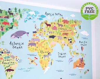 Kids world map | Etsy on keystone world map, large world map, hack world map, 2 color world map, auburn world map, pillars world map, bending world map, lafayette world map, dover world map, highlands world map, repositionable world map, weathered world map, angle world map, go to the world map, old world map, eden world map, johnson world map, girl world map, thompson world map, ridges world map,