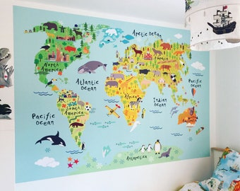 World map wall decal world map decal world map sticker wall world map wall sticker for kids map of the world fabric wall graphic kids world map wall art world map wall decal for kids world map art gumiabroncs Images