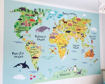 Map Of England For Kids.British Map Wall Sticker For Kids Uk Map Fabric Wall Graphic Etsy