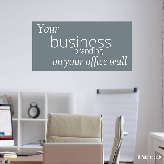 Business logo wall sticker bespoke logo wall sticker | Etsy