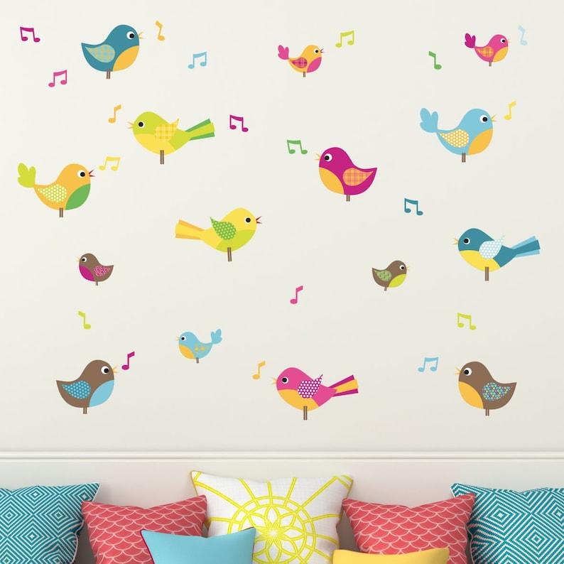 bird wall stickers kids bird wall stickers nursery wall   etsy
