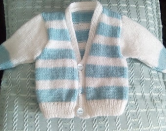 Cute striped baby cardigan 0-3 months