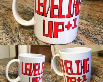 Leveling Up - Gamer Mug, Games, Creative Humor Coffee Mug Funny Mug Coffee cup, Tea mug, Humor mug, funny, humorous