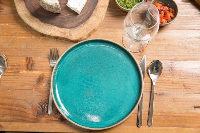 Dinnerware ceramic plate bown pottery big plate