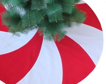cebfa20a6e Red White Christmas tree skirt Peppermint candy Design Christmas Tree Skirt  modern christmas tree skirt tree Striped tree skirt