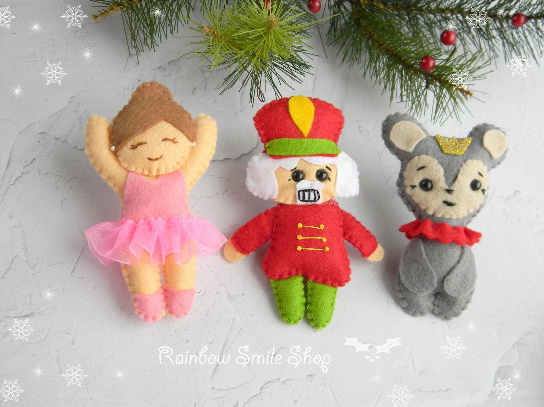 Felt Nutcracker Christmas Ornaments Mouse King ornament | Etsy