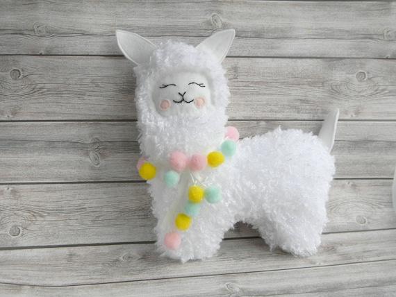 Llama Plush Toy Stuffed Llama Toy Alpaca Toy Boho Baby Toy Etsy