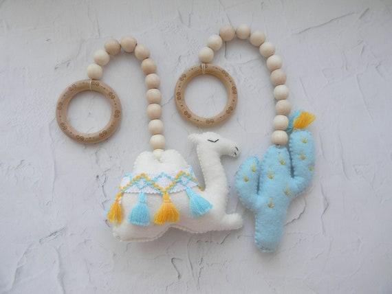 Camel Rainbow Camel /& Cactus Play Gym Toys MADE TO ORDER Cactus Rainbow Set of 4 Baby Play Gym Toys