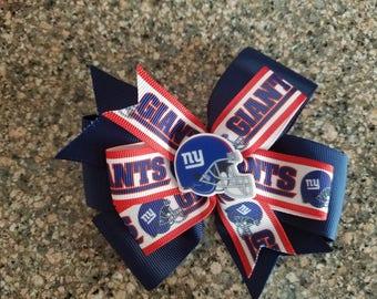 New York Giants hair bow