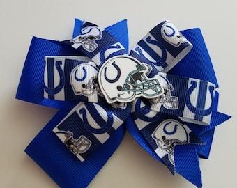 Indianapolis Colts hair bow