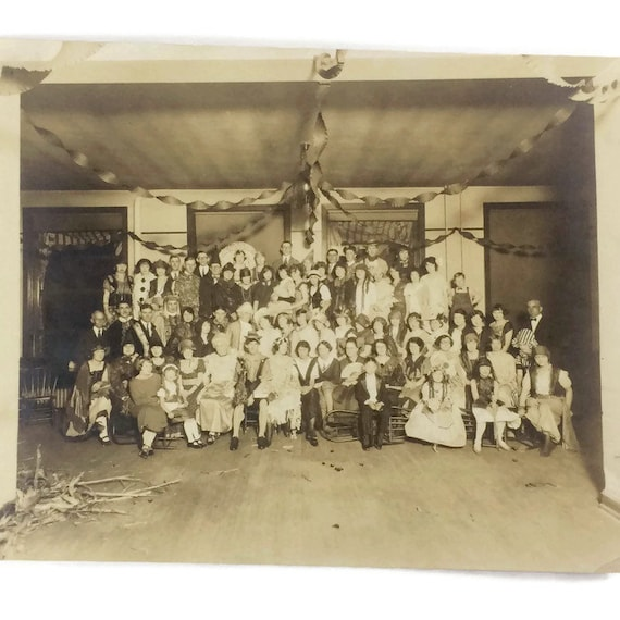 Vintage 1920s Halloween Costume Party Photo