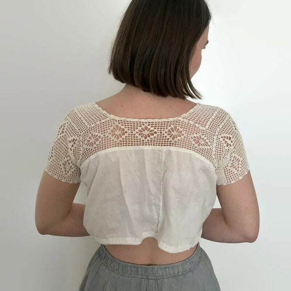 Antique Edwardian Bobbin Lace Blouse - image 5