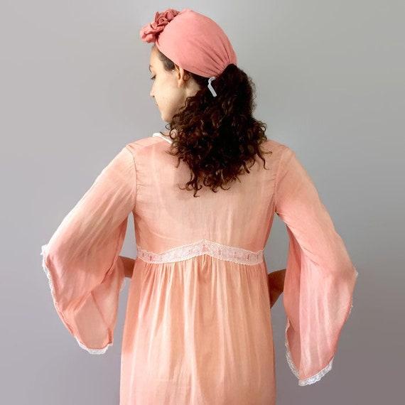 Vintage Coral Silk Robe