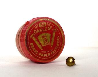 Oakleaf Brass Paper Fasteners