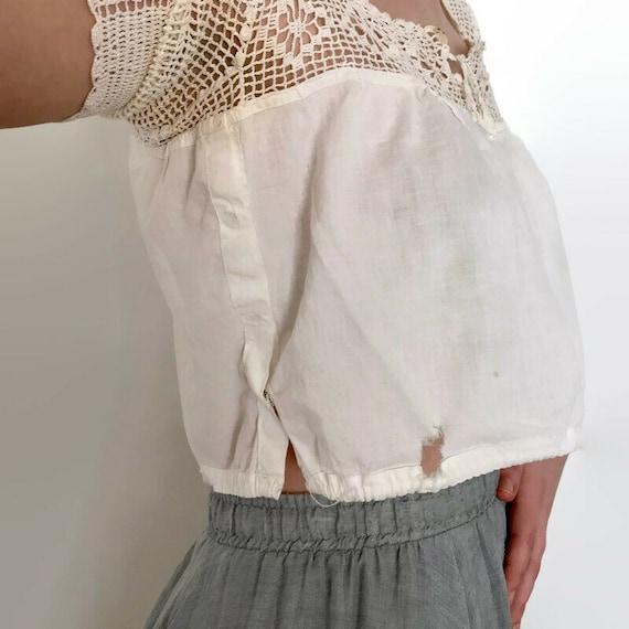 Antique Edwardian Bobbin Lace Blouse - image 4