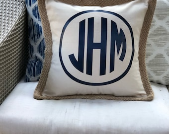 """Personalized monogrammed pillow - 18""""x18"""""""