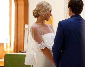 Wedding Lace Bolero, Capelets, Bridal Coverup, Lace Bolero, Bridal Top, Bolero, Wedding Bolero, Ivory Bolero, Pink Bolero, White Bolero,