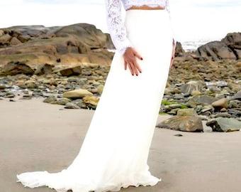 Silk Skirt, Wedding Silk Skirt, Silk Maxi Skirt, Bridal Skirt, Wedding Separates, White Bridal Skirt, Bridal Separates, Ivory Maxi Skirt