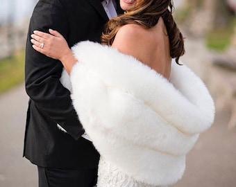 Faux Fur Stole with non slip velvet lining | Faux Fur Wrap | Faux Fur Shawl | Bridal Stole #Bridesmaidsshawl #Shawl #Wedding #FurShawl