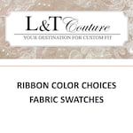 Fabric Swatches | Tulle Swatches | Faux Fur | Ribbon Color Swatches | Chiffon Swatches | English Net | Pearls | Crystals | Beaded Fabric |