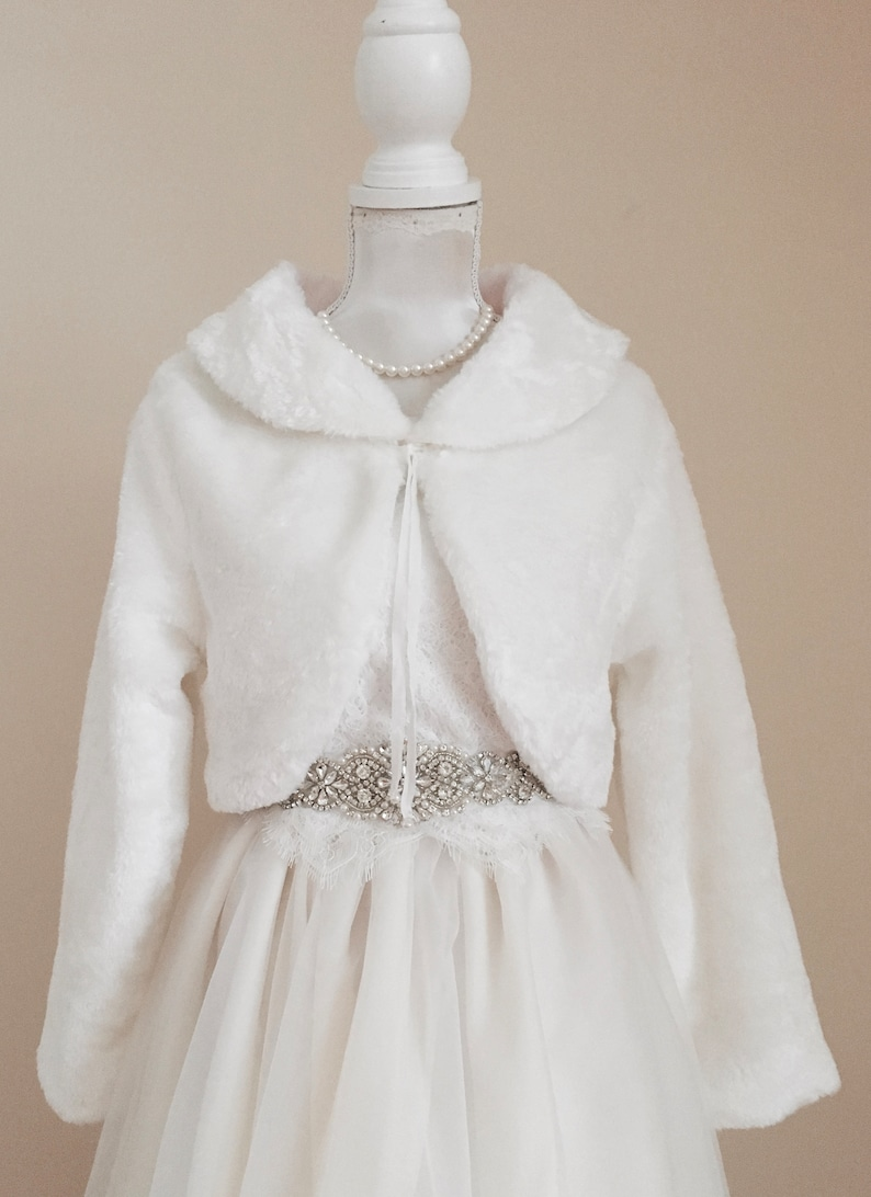 7957f0c0dbeb SALE Girls Faux Fur Cape Girls White Fur Cape Bridal Ivory