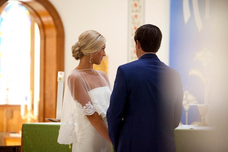 Bridal Cape Bridal Bolero  Capelets  Bridal Cover Up  image 1