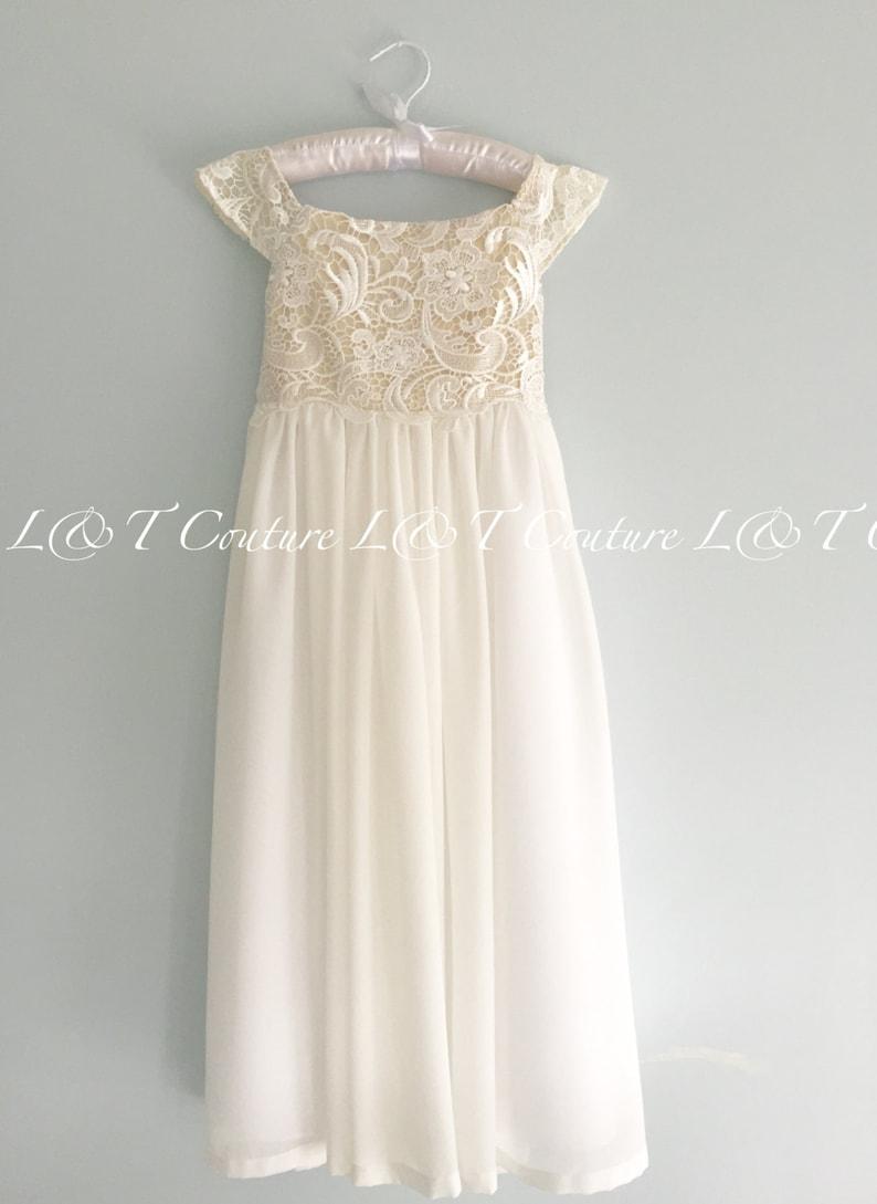 c7f50b65e91 Flower Girl Dresses Lace Top Flower Girl Dress Flower Girl