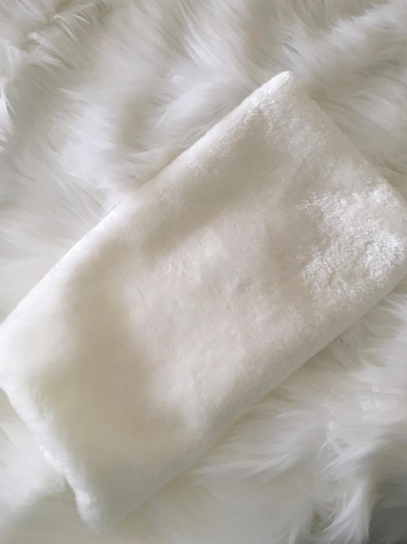 Cream Ivory Faux Fur Muff Winter Bridal Muff Ivory Wedding image 0