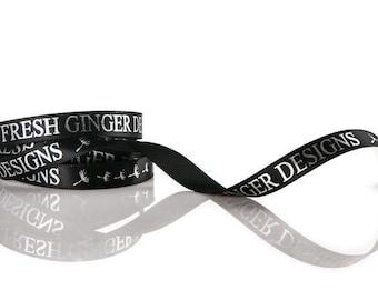 Custom Ribbon in 65 Beautiful Colors | Double Face Satin Ribbon | Personalized & Custom Printed 28 Vibrant Ink Colors | 100 Yard Ribbon