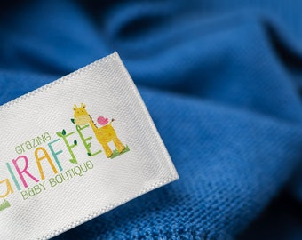 Custom Clothing Labels Sew on 1000 - Create Personalized Custom Clothing Tags Full Color Labels Washable with Your Logo in Multicolor