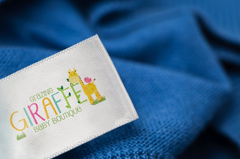 bf84d96eb3a28 1000 Custom Clothing Labels Sew on - Create Personalized Custom Clothing  Tags Full Color Labels Washable with Your Logo in Multicolor
