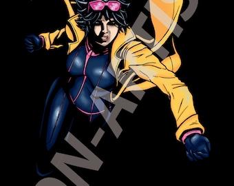 I am not a child! (Marvel X-men Jubilee digital art print)