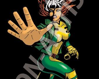 Wha's hap'nin' to me?!! (Marvel X-men Rogue digital art print)