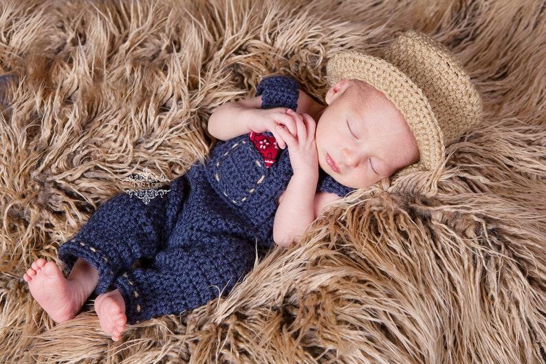 b8f1c41c Crochet Farmer Overalls Newborn Photography Prop/Baby Shower Gift/Infant  Halloween Costume/Photo Prop/ Old MacDonald/Newborn Photography