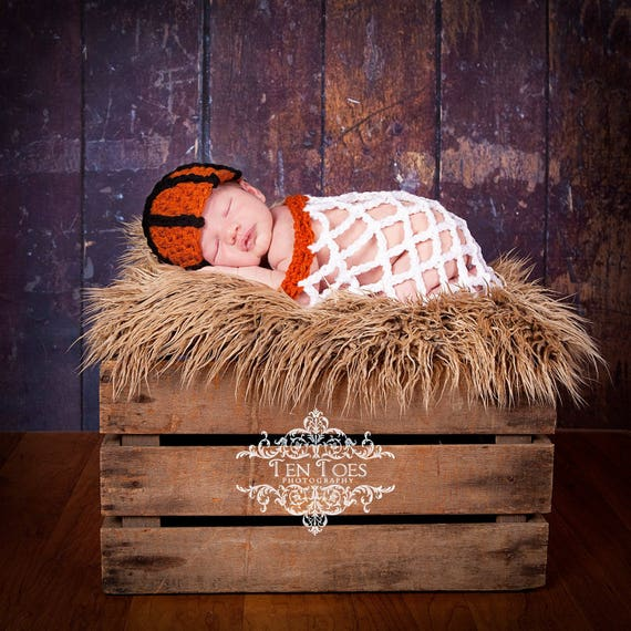5fc93aa6 Crochet Basketball Set Newborn Photography Prop/Baby Shower Gift/Infant  Halloween Costume/Basketball Cocoon