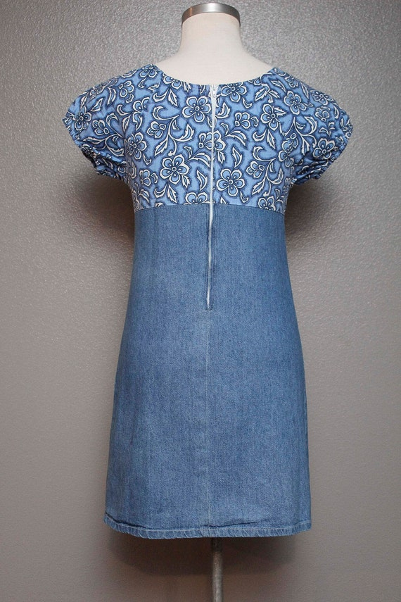 FKVintage 1990s Denim Babydoll Dress by Faded Glo… - image 2