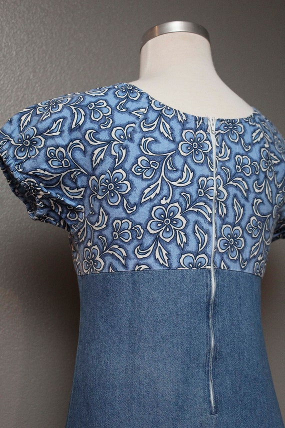 FKVintage 1990s Denim Babydoll Dress by Faded Glo… - image 3